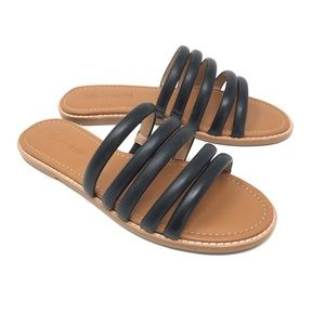 Madewell The Addie Slide Sandal Black New Size 6.5